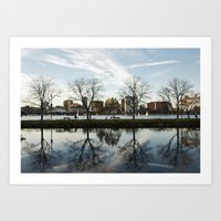 Esplanade Reflection Art Print