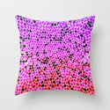 THINK LILAC CORAL Throw Pillow