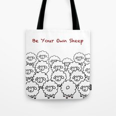 Be Your Own Sheep Tote Bag