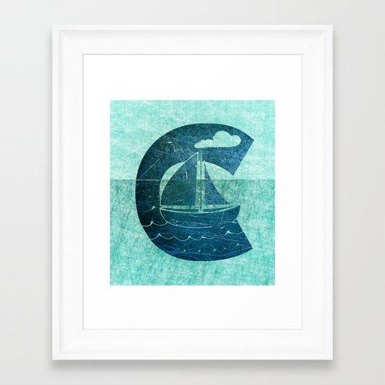 Sail Across the Sea Framed Art Print