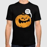 Pumpkin Season Mens Fitted Tee Black SMALL