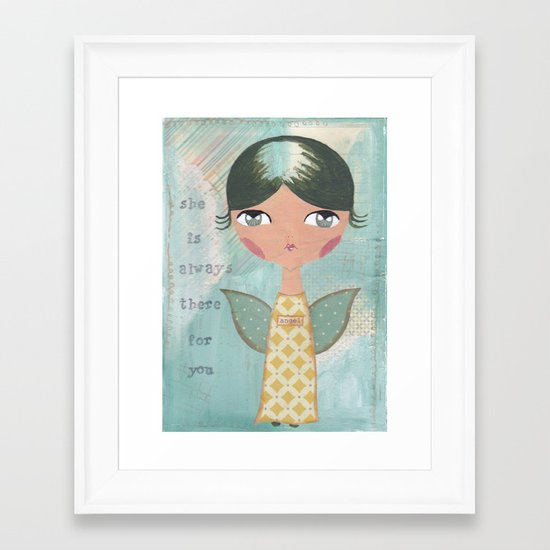 She is always there for you Framed Art Print