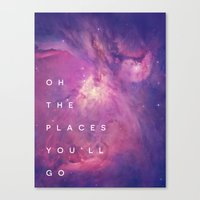 The Places You'll Go II Canvas Print