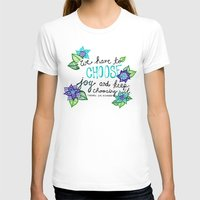 Choose Joy Womens Fitted Tee White SMALL