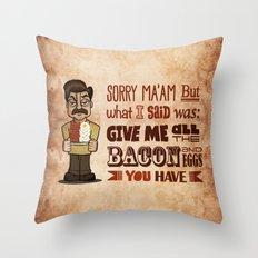 Ron Swanson 4 Throw Pillow