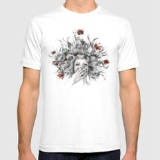 It Overflows Mens Fitted Tee White SMALL