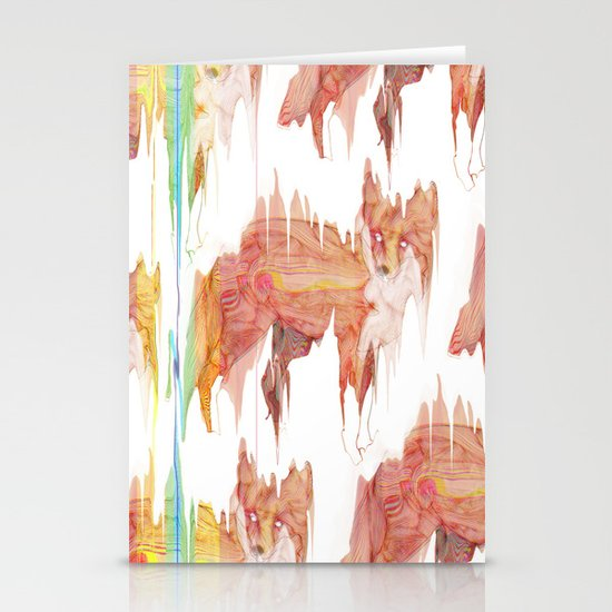 Remix Red Fox Stationery Card