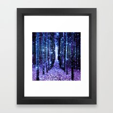 Magical Forest Turquoise… Framed Art Print
