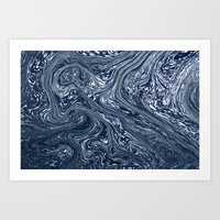 Baptism River Foam 1 Art Print