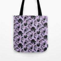 Beta Fish Lavender Tote Bag