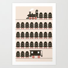 Stretched Out Locomotive  Art Print