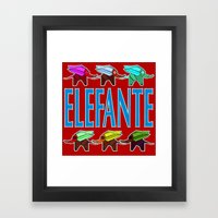 Elefante 2 Framed Art Print