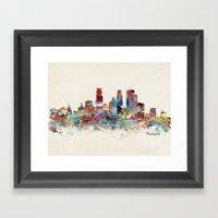 Minneapolis Minnesota Sk… Framed Art Print