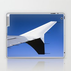 Airplane wing on a blue sky  Laptop & iPad Skin