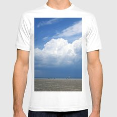 Beach White Mens Fitted Tee SMALL
