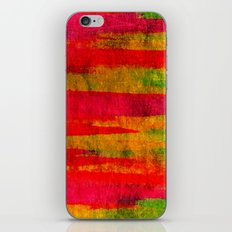 FIERCE - Intense Wild Nature Masculine Stripes Abstract Watercolor Painting Design Urban Fine Art iPhone & iPod Skin