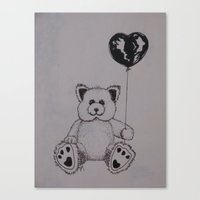 Canvas Print featuring Baloon Bear by Joy Reyes