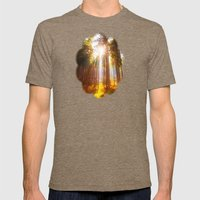 Sunshine forest Mens Fitted Tee Tri-Coffee SMALL