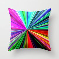 Color Burst Throw Pillow