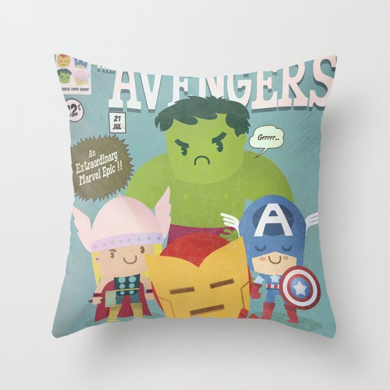 avengers fan art Throw Pillow