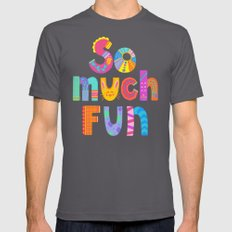 So Much Fun Mens Fitted Tee Asphalt SMALL