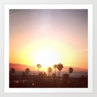 Sunrise & Palms Art Print