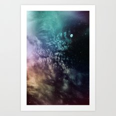 Polychrome Moon Art Print