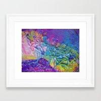 Wet Paint Blob Framed Art Print