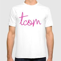 #TCOM Mens Fitted Tee White SMALL