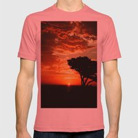 Firey Dragon  Mens Fitted Tee Pomegranate SMALL