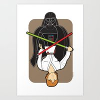 Darth Vader and Luke Art Print