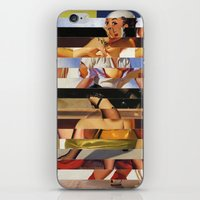 Glitch Pin-Up Redux: Hea… iPhone & iPod Skin