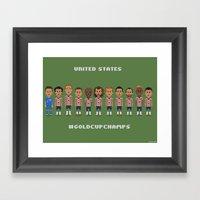 US Soccer  - #GoldCupCha… Framed Art Print