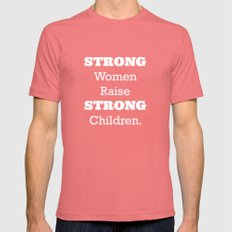 Strong Women - Pink.  SMALL Pomegranate Mens Fitted Tee