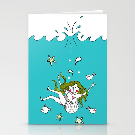 Dive In! Stationery Card