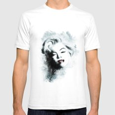 Ohh Marilyn! SMALL White Mens Fitted Tee