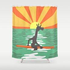 Surf Unicorn Shower Curtain