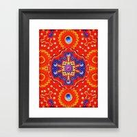 Star Flake Framed Art Print