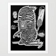 Escape from Mushroom Island Art Print