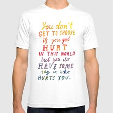 If You Get Hurt Poster Mens Fitted Tee White SMALL