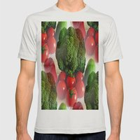 Healthy Vegetables Mens Fitted Tee Silver SMALL
