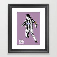 B is for Baggio Framed Art Print