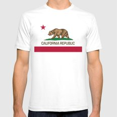 California Republic state flag - Authentic Version Mens Fitted Tee White SMALL