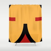 face 9 Shower Curtain