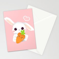 I love you, carrot! Stationery Cards
