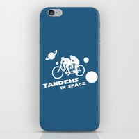 Tandems in Space in Blue iPhone & iPod Skin