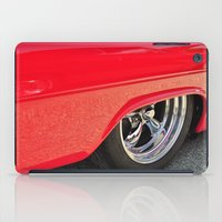 Red And Chrome iPad Case