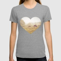 Autumn Morning Womens Fitted Tee Tri-Grey SMALL