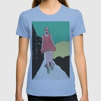 Adventure Time Womens Fitted Tee Athletic Blue SMALL