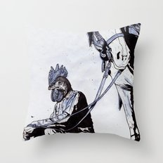 Rooster Man Throw Pillow